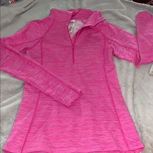 Bright pink workout pullover